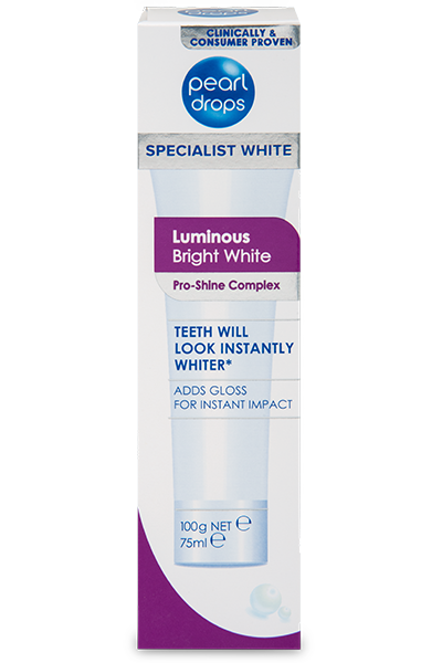 Pearl Drops Luminous Bright White Toothpolish 100g